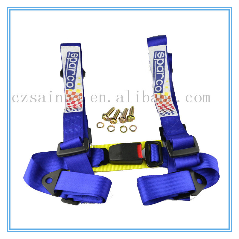High quality racing seat belt 4 points safety belts are being designed