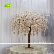 GNW BLS1707015 New fashion fake light pink hanging flower cherry blossom tree