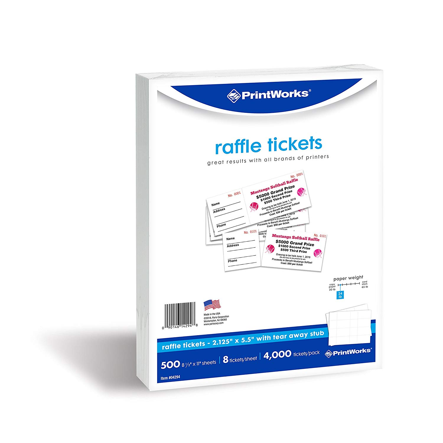 get quotations printworks perforated paper for raffle tickets coupons and more tear away stubs
