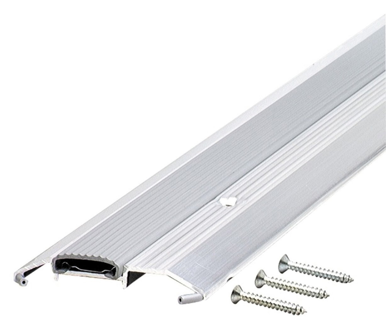 M-D Building Products 8102 3-3/4-by-3/4-by-36-Inch Deluxe Low Threshold with Vinyl Seal, Aluminum