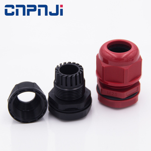 IP68 black color G1 1/4'' spring type cable fitting plastic cable fastening connector cable glands with nut
