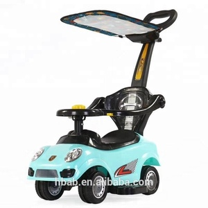 Alibaba china factory cheap price 2018 new sliding toy kids ride on car with push handle