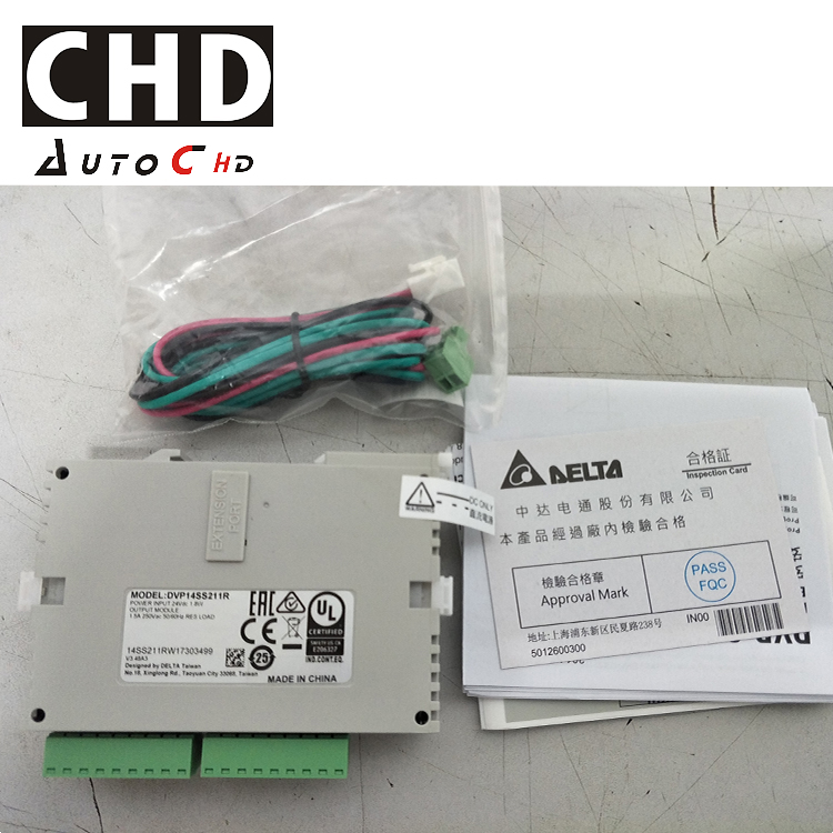 Delta PLC 14 point 8DI 6DO Relay Standard 24VDC DVP14SS211R with Program Cable