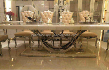 Modern Seater Restaurant Marble Dining Table Dh Buy Marble - Glass dining table for 10