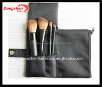 4pcs cute cheap makeup brush travel set synthetic hair padding