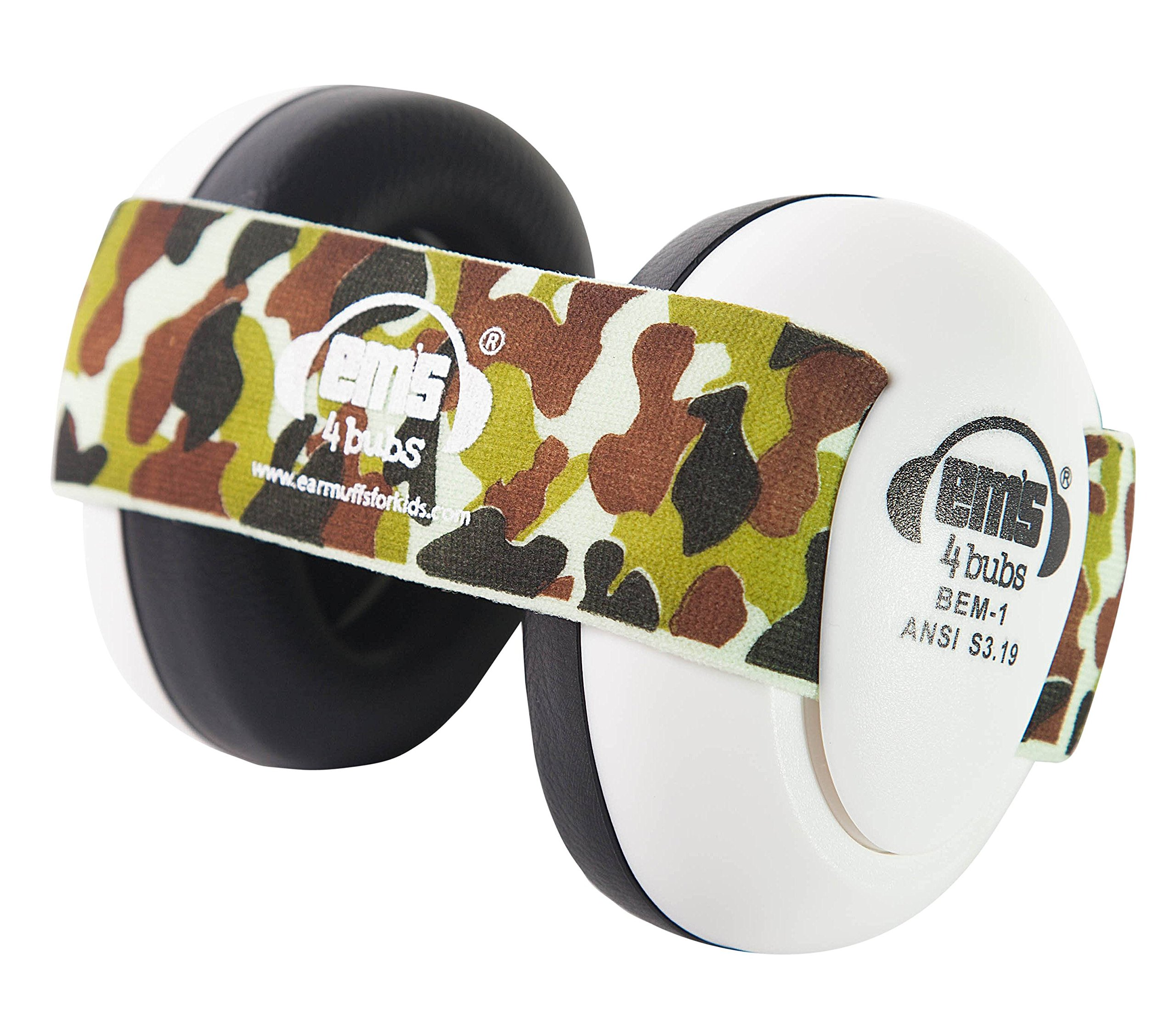 Em's 4 Bubs Hearing Protection Baby Earmuffs Size 0-18 Months (Army Camo)