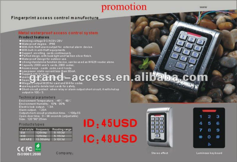 Ethernet Standalone Mifare Reader with Keypad,Waterproof Metal RFID Card Reader
