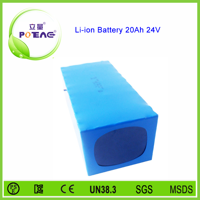 Deep cycle custom 24v 20ah lithium battery pack for electric bicycle