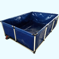 Customized size of PVC fish pond with metal frame