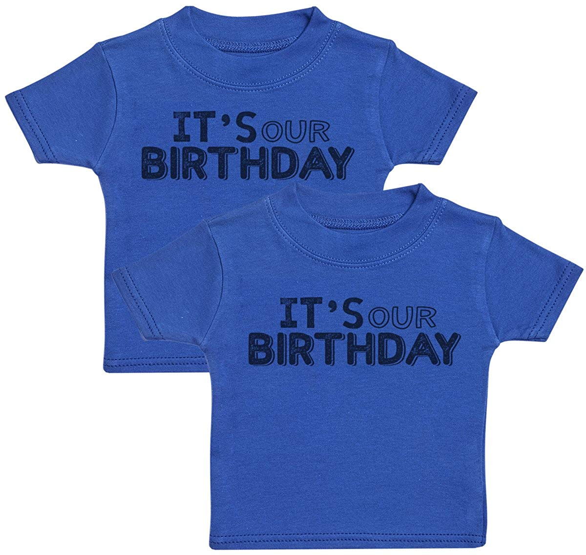 Its Our Birthday Baby T Shirt Twin Set