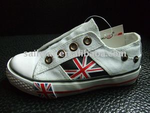 2011 collection flag printed canvas shoes