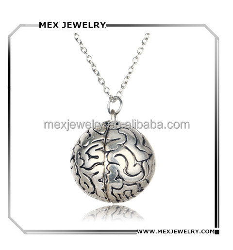 In stock!2016 hot film medical science Human brain head Pendant Necklace Anatomical Jewelry
