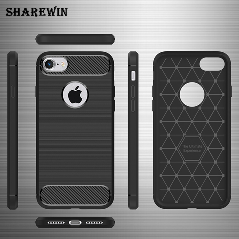 Case for iphone 7,for iphone 7 TPU carbon fiber case,for iphone 7 TPU brushed case