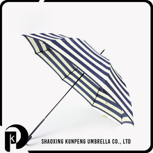 550mm*8k Folding Size striped patio umbrella solid straight umbrella straight umbrellas wholesale
