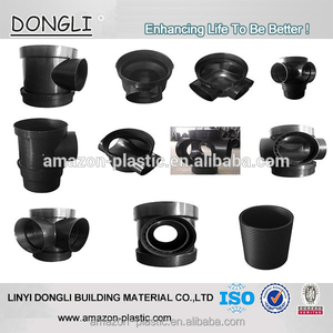 HDPE inspection manhole well corrugated pipe fitting for underground sewage