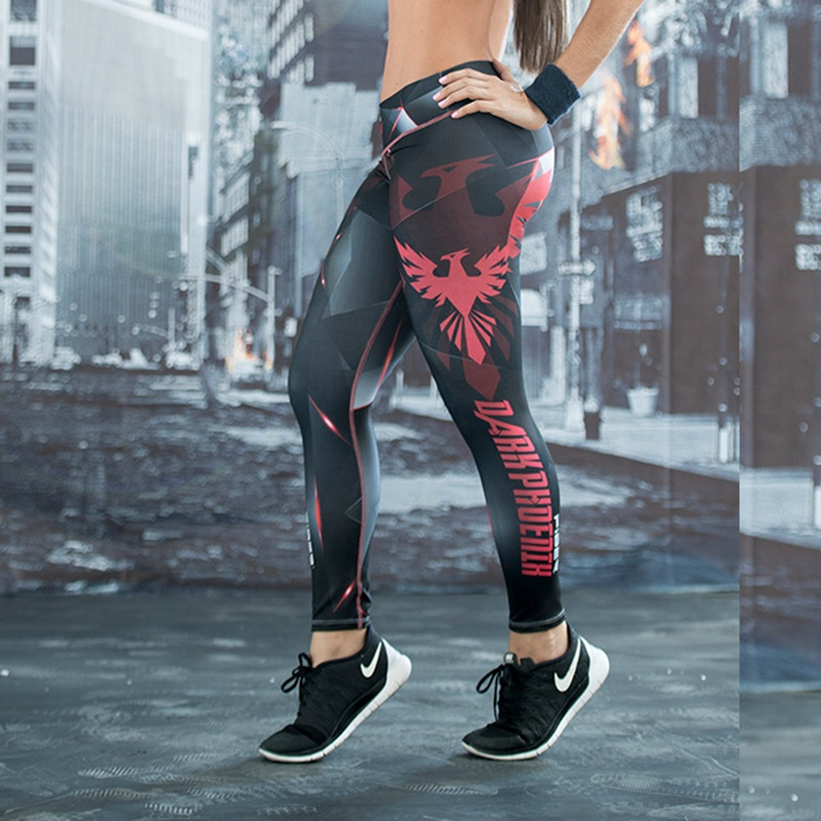 Women 3D Sublimation Geometry Print Sports Gym Yoga Workout Athletic Leggings
