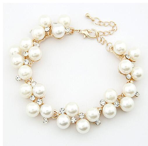 Марка дизайн роскошь 18 K золото подвески кристалл кубический циркон алмаз жемчуг бусины браслет для женщины ювелирные изделия XY-B108