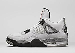 Air Jordan 4 Retro OG 89 White/Fire Red-Black-Tech-Grey (white cement) size 13
