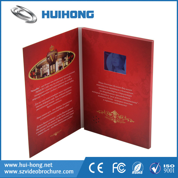 Handmade new year greeting cards and video brochure for AD