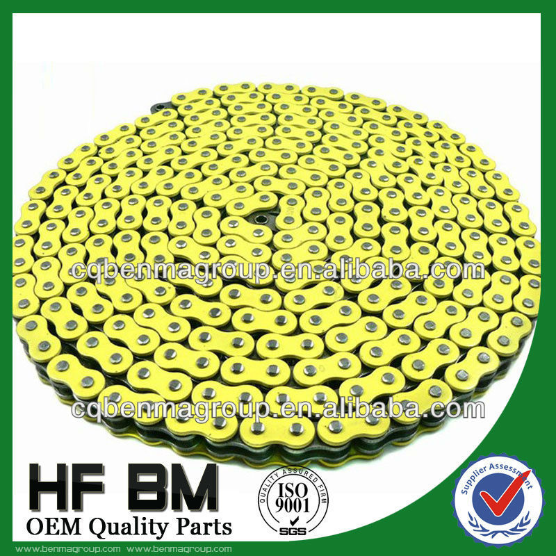 Yellow Chain for Motorcycle, Top Quality 520 Motorcycle Chain Yellow Color, Professional Chain Manufacturer!!