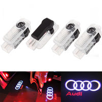 GlowDisplay 4 LED Logo Light Shadow Projector Car Door Courtesy Laser For Audi A4 A6 A8 Q5/7