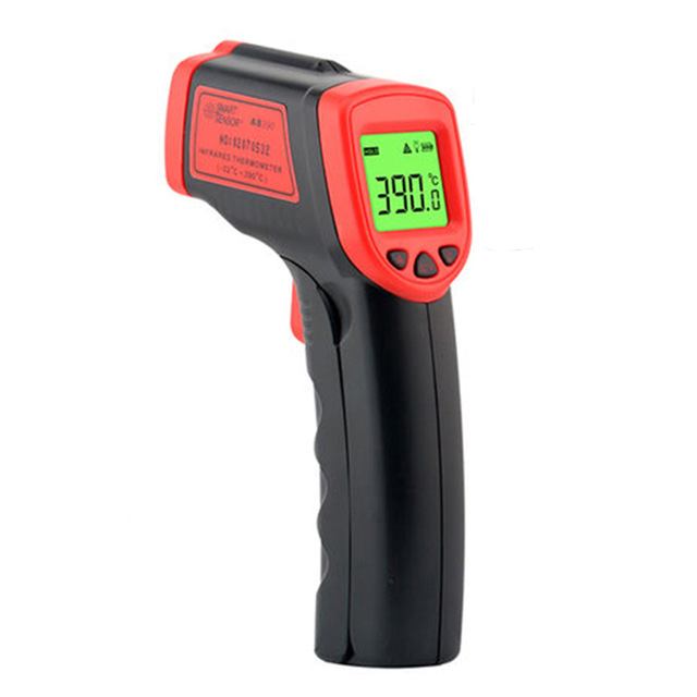 AS390 Laser IR Infrared thermometer meter Handheld <strong>Temperature</strong> Meter gun <strong>Temperature</strong> measuring thermal camera