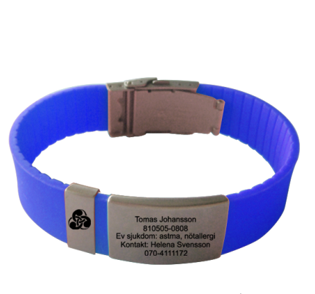 Adjustable Cheap Custom Silicone ID Bracelets with metal buckle
