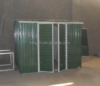 8u0027x8u0027 Backyard Tool Storage Shed Green Metal Garden Shed  DIY Steel Kit