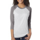 Unisex Tri-Blend 3/4-Sleeve Raglan Shirts Crewneck T shirts Two Color Wholesale Women tshirts Cheap Price High Quality