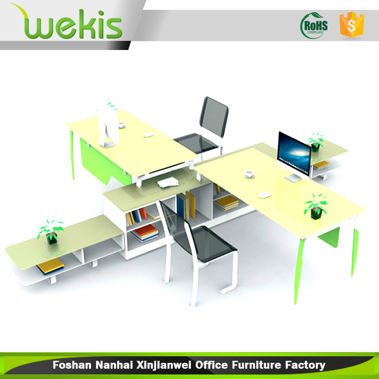Marvelous Customized Modern Office Furniture Assembled 2 Person Computer Workstation  With Cabinets   Buy 2 Person Workstation,Computer Workstation,Office  Furniture ...