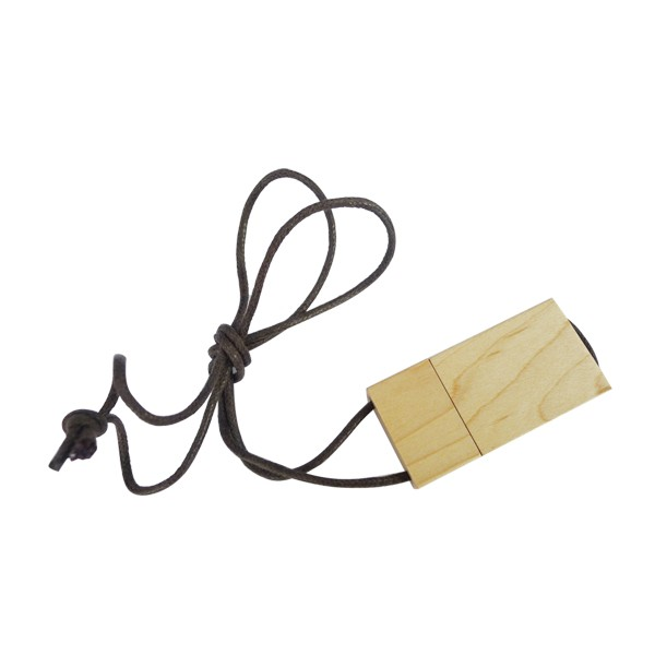 cheap usb stick china products Wooden USB Flash drive with rope wood pen