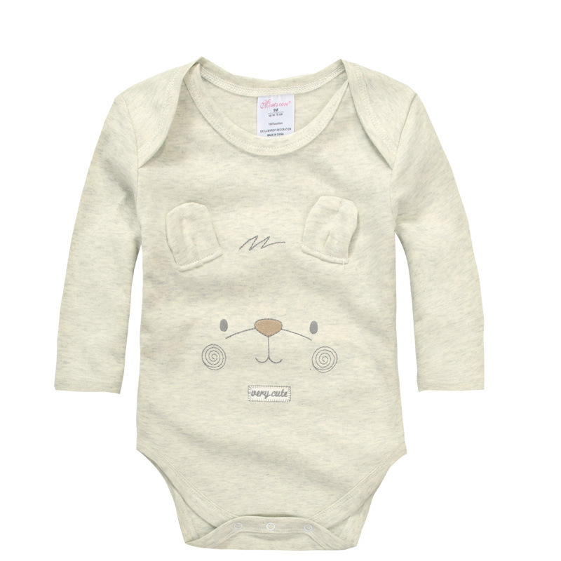 3b2b14d8f2 Retail 2pcs lot 100% Organic Cotton Autumn Long-sleeved Bodysuit Unisex Boys  Girls