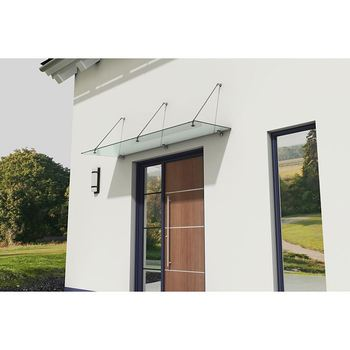 Factory Direct Sale Awning Fitting Polycarbonate Glass Front Door Canopy