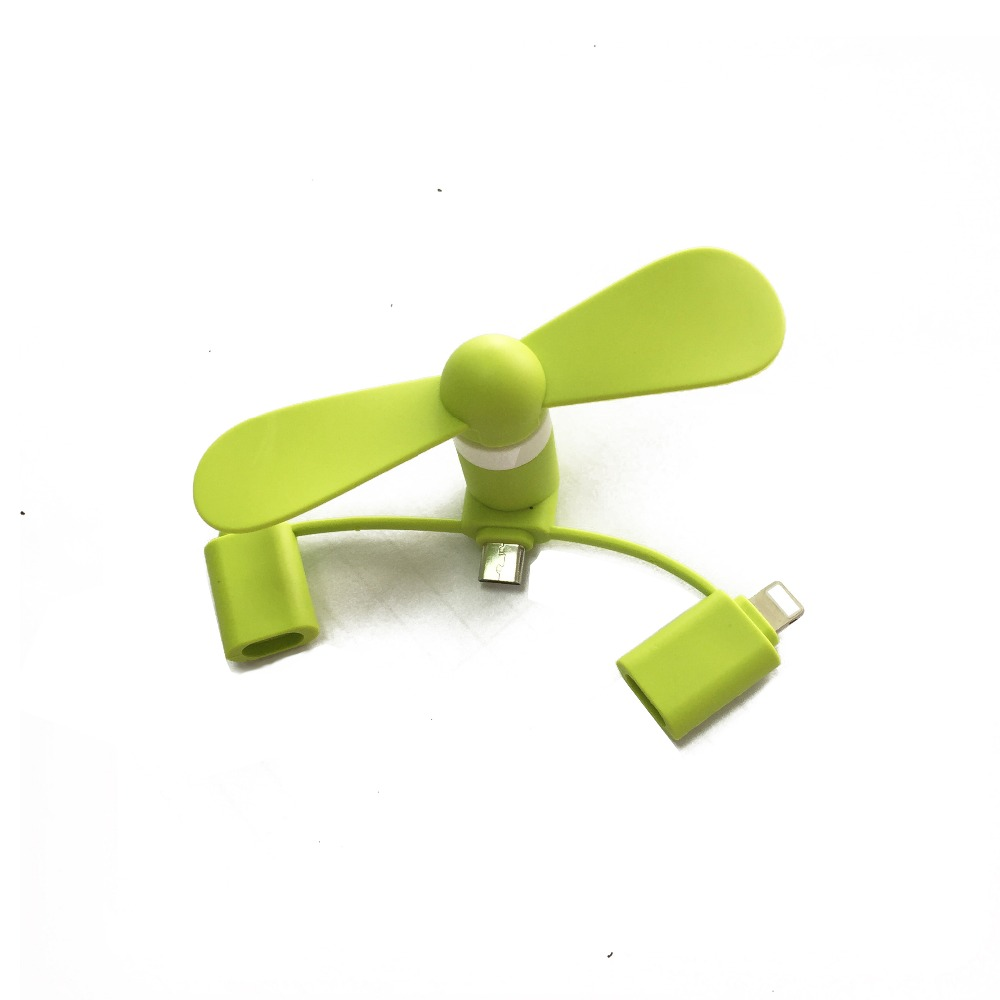 3 in 1 Portable Mini USB Mobile phone Fans for iphone and Android and for Type C mini portable fan