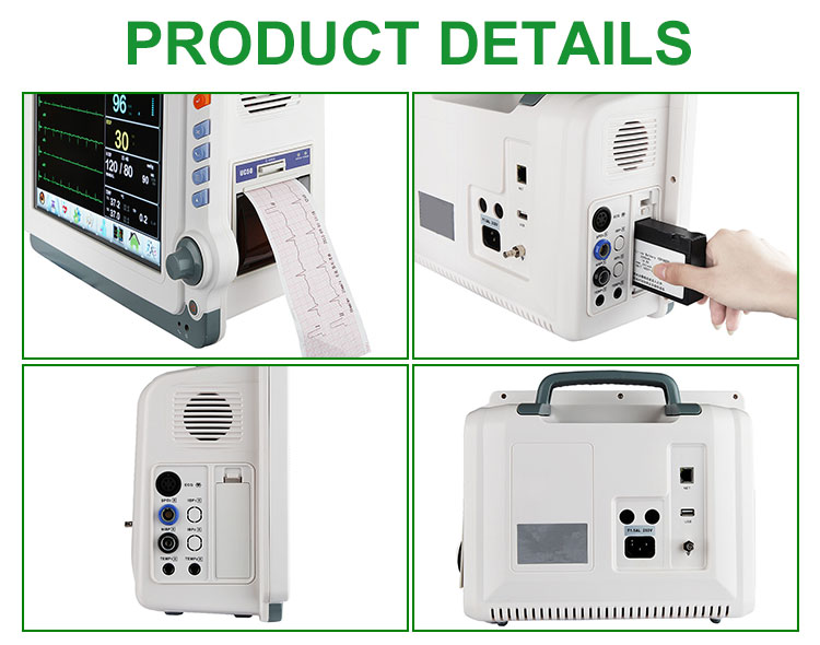IN-C041 Hospital First-Aid Medical Multiparameter patient monitor trolley contec patient monitor