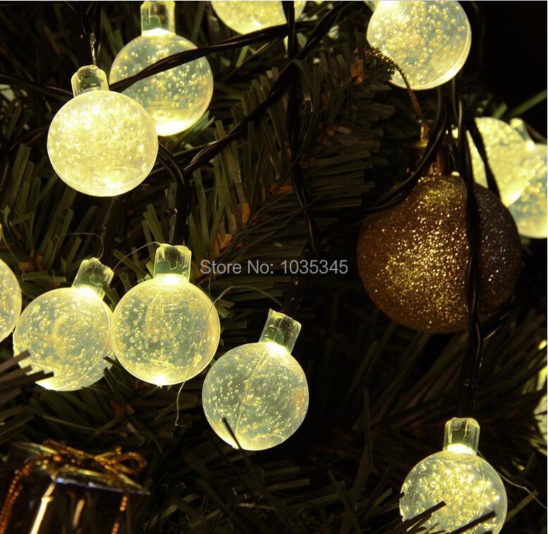 Solar Lights Christmas Tree Shop: 20 LED Solar Powered Outdoor String Lights Crystal Ball