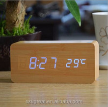 Wholesale Wooden Table Clock with your company Logo