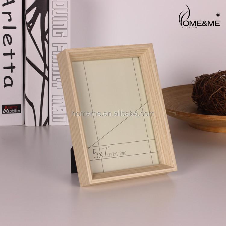 Mini escritorio marco de fotos/madera natural sombra marcos caja ...