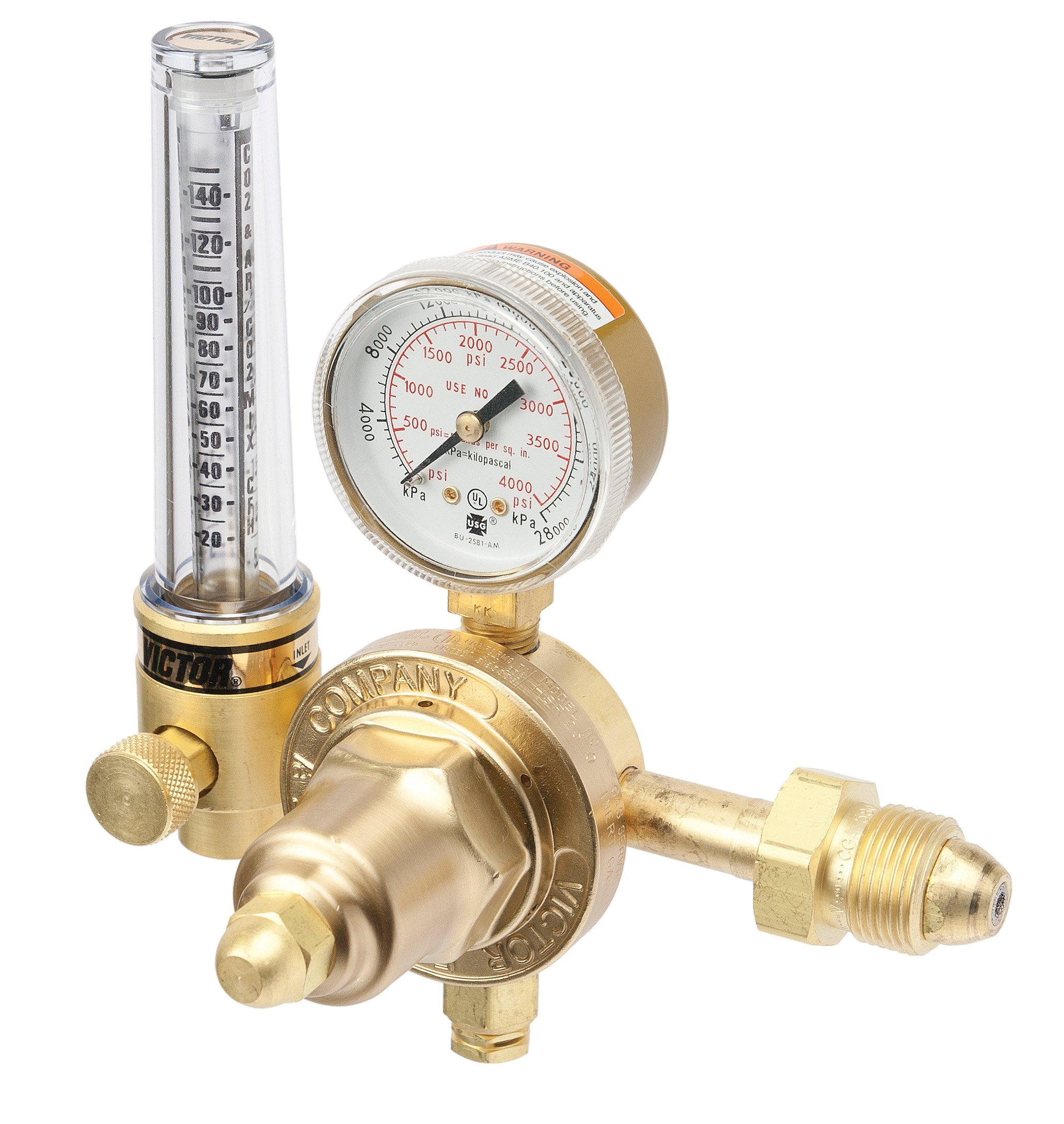 10-50//20-150 SCFH Flow Range Victor Technologies 0781-2731 HRF-2425 Medium Duty Flow Meter Cylinder Argon//Argon//Carbon Dioxide Mix//Helium Regulator