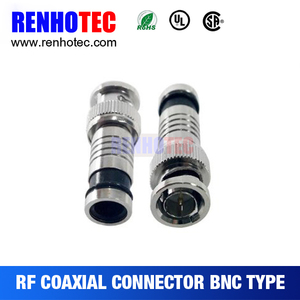 BNC male to F compression connector adapter for rg11 rg6 rg58 rg9 cable