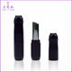 Plastic cosmetic lipstick case design cute tube kitty lip balm container packaging with kitten cat shape cap black round ZK69006