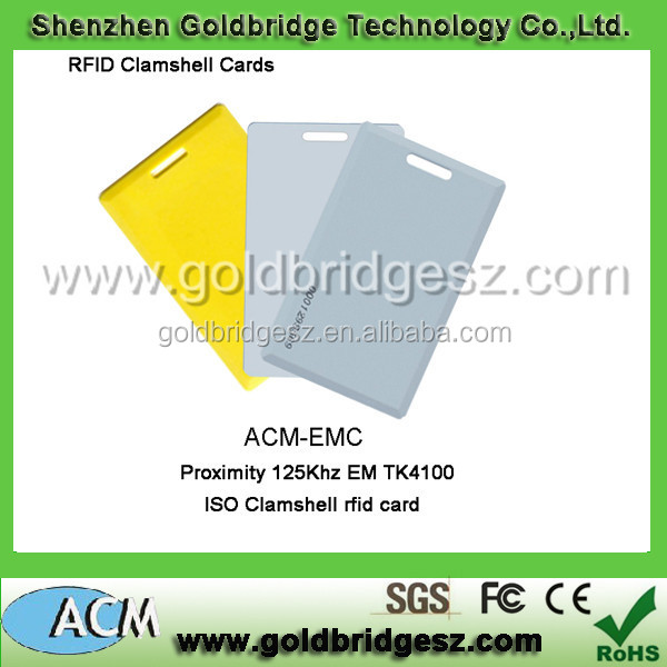 Proximity ISO Blank Card with 125KHz 0.8mm EM4100 Compatible EM Card