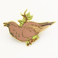 New Products Custom Designs Gold Plating Hard Enamel Lapel pins Bird shaped Badges From China