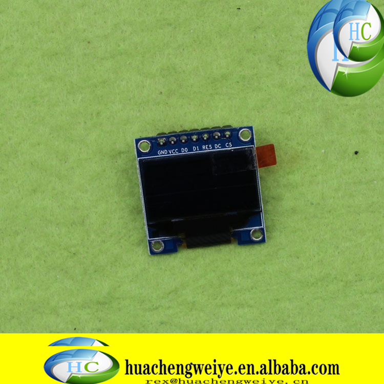096 inch OLED display 7-pin LCD screen module yellow and blue color