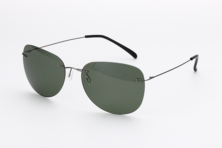 a3863aeaec Rimless Titanium Polarized Sunglasses