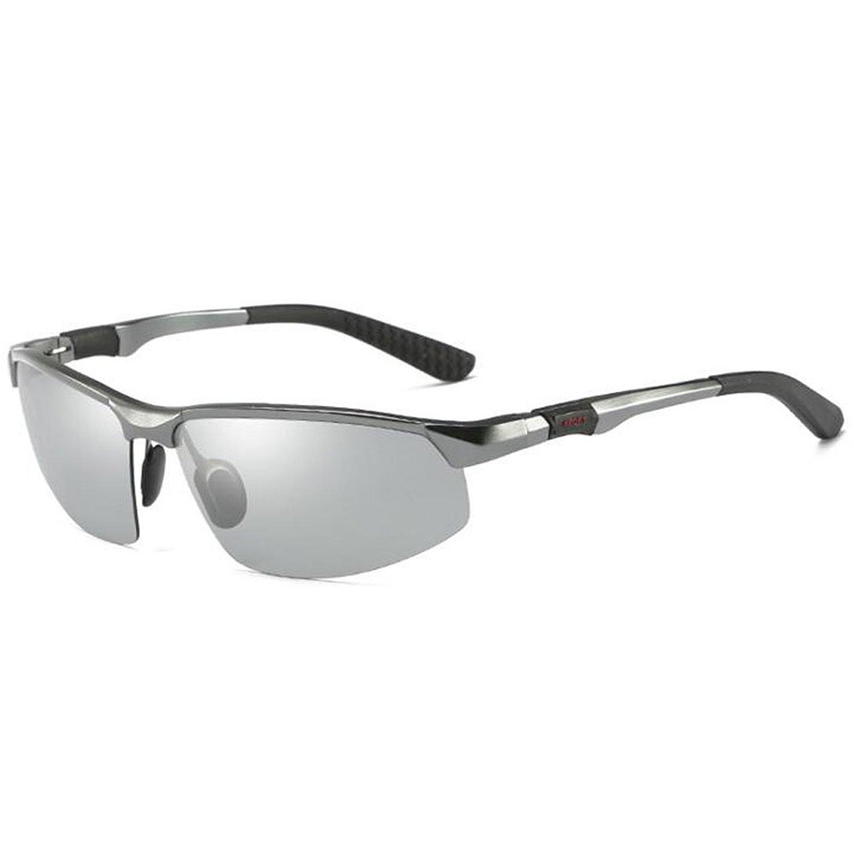 9f8f1b85f9 Get Quotations · Polarized Photochromic Lens Sunglasses Driving  Photosensitive Sunglasses for Men