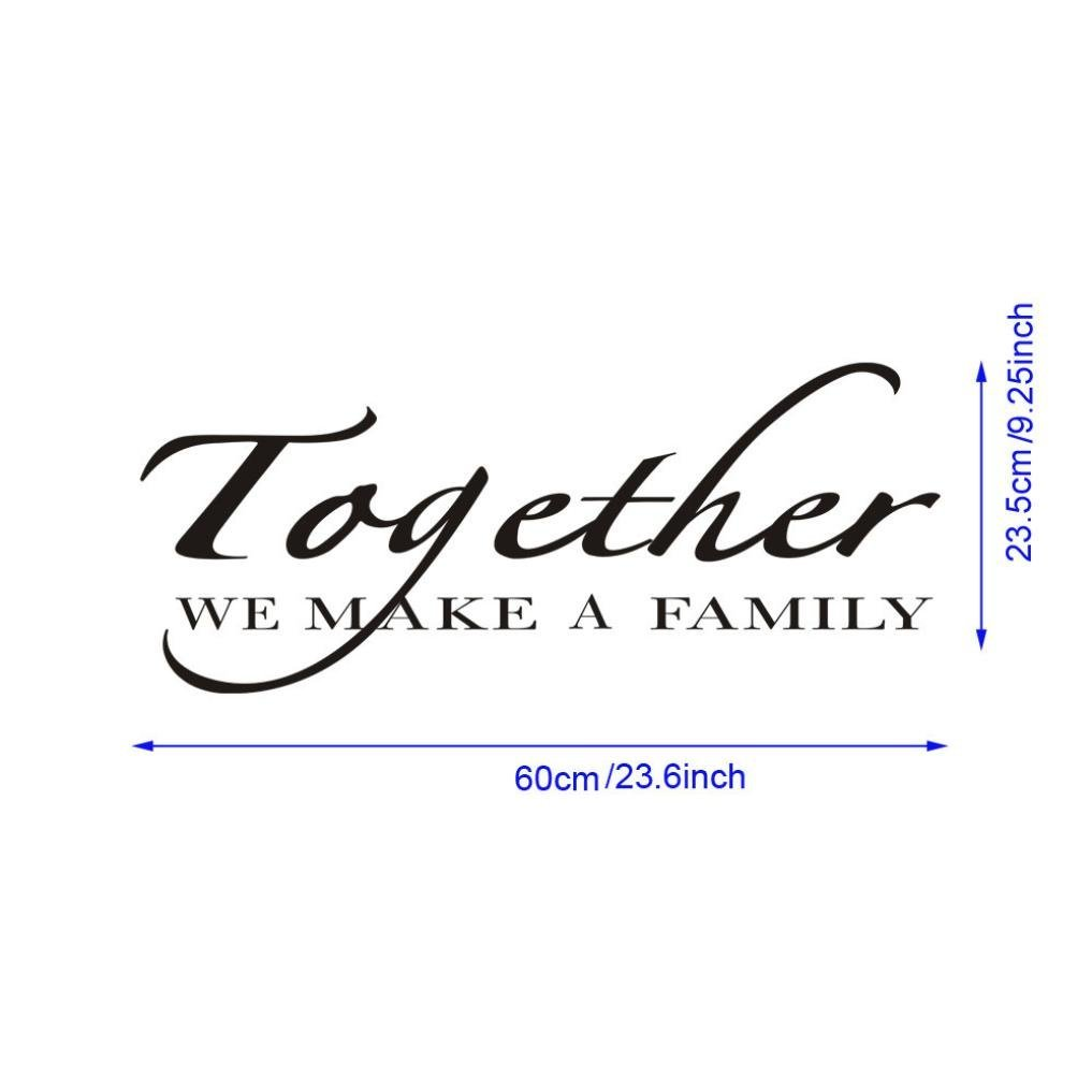 Rumas Together We Make A Family Letters Print Wall Stickers Decal Vinyl Art Mural Decor