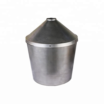custom cheap metal spinning metal iron trash can