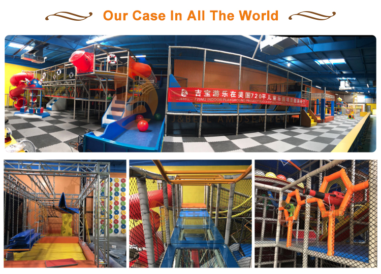 High quality OEM adult adventure indoor castle playground equipment