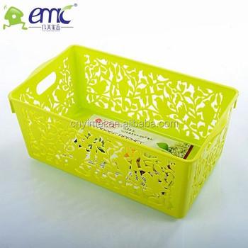 New Design New Item Square Shape Plastic Storage Basket